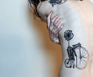 tattoo, tatto, and bicycle image