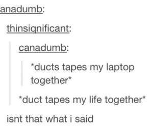 duck tape, funny, and laptop image