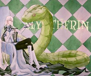 harrypotter and slytherin image