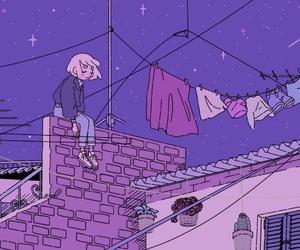 purple, art, and night image