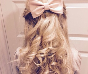 blonde, curls, and bow image