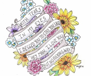 the front bottoms, flowers, and Lyrics image