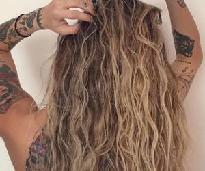 girl, hair, and Tattoos image