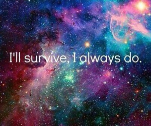 quote, survive, and text image