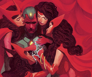 Marvel, vision, and scarlet witch image