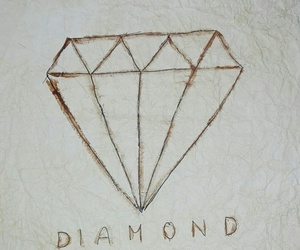 art, coffe, and diamond image