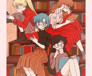 sailor moon, book, and anime image