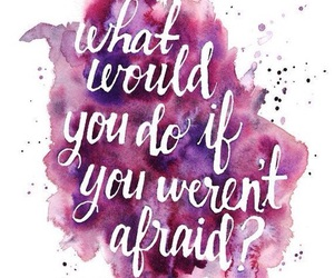 quotes, afraid, and purple image