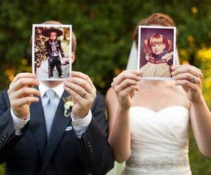 wedding, bride, and couple image