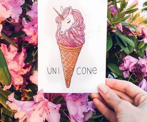 pink, unicorn, and art image