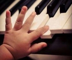 piano, baby, and child image