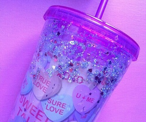 pink, purple, and glitter image