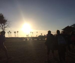beach, seaside, and shadow image