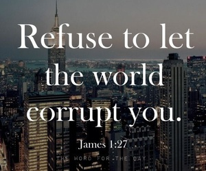 world, bible, and corrupt image