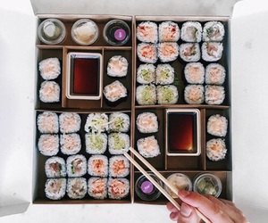 food, sushi, and delicious image
