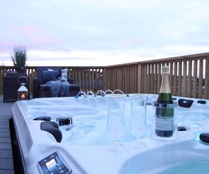 balcony, champagn, and luxury image