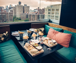 food, rooftop, and new york image