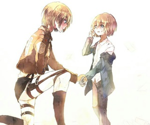 attack on titan, armin, and anime image