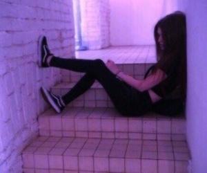 girl, tumblr, and purple image