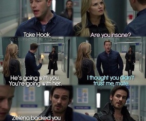 prince charming, captain hook, and emma swan image