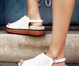flats, white, and flatforms image