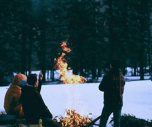 fire, vintage, and indie image