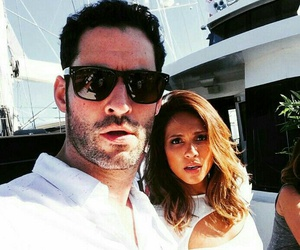 lucifer, mazikeen, and tom ellis image