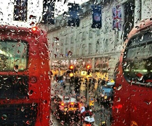 rain, london, and bus image
