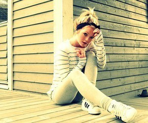 girl, adidas, and blonde image