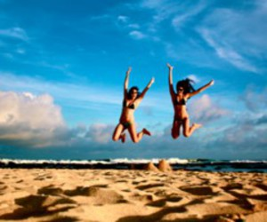 beach, fun, and fashion image