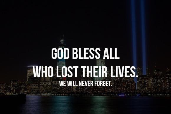 Prayers going out to 9/11 victims, gone but never forgotten 🙏🏼