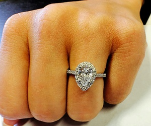 diamond, lux, and engagement ring image