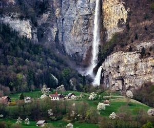 switzerland and waterfall image