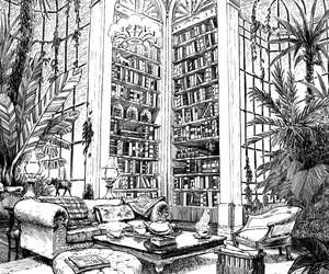 library, book, and manga image