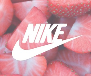 nike, strawberry, and red image
