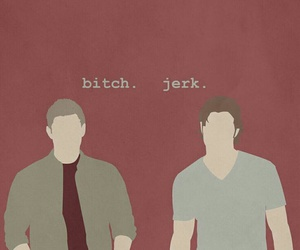 supernatural, bitch, and dean image