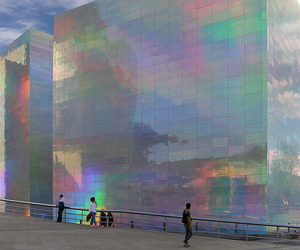 building, aesthetic, and holographic image
