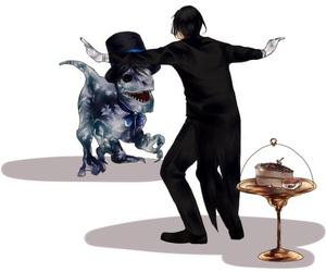 anime, black butler, and dinosaur image