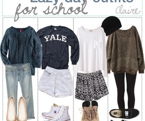 daily, outfit, and school image