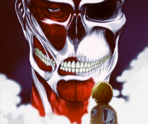 manga, attack on titan, and armin arlert image