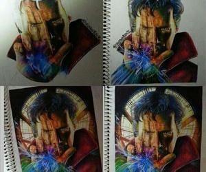 art, artist, and galaxy image