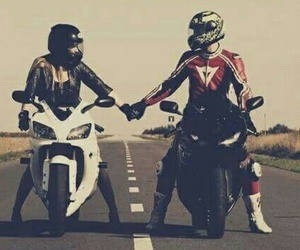 love, couple, and moto image