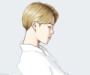 blonde hair, fanart, and kpop image