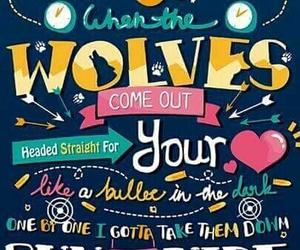 wolves, one direction, and Lyrics image