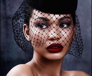 model, beauty, and lips image