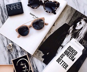fashion, sunglasses, and magazine image