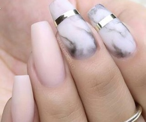 nails, marble, and pink image