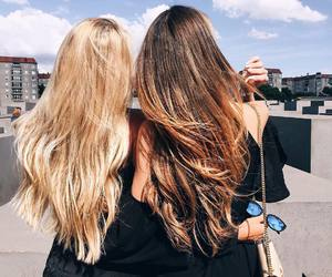 hair, girl, and friends image