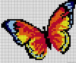 hamabeads de mariposa image