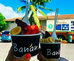 food, banana, and summer image